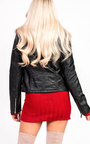 Alana Faux Fur Leather Biker Jacket Thumbnail