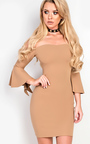 Alise Off Shoulder Bodycon Dress Thumbnail