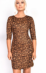 Kass Leopard Print Dress Thumbnail