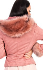Tamsin Faux Suede Fur Jacket Thumbnail