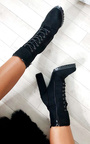 Shay Faux Suede Platform Tie Up Boots Thumbnail
