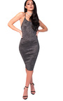 Saskia Midi Luxe Bandage Dress Thumbnail