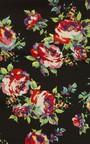 Aisha Black Floral Print Kimino Thumbnail