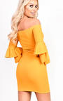 Ellie Frill Bardot Dress Thumbnail