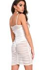 Ariel Mesh Ruched Mini Dress Thumbnail