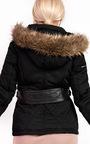 Anisa Padded Faux Fur Hooded Jacket Thumbnail
