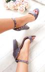 Lalia Faux Suede Studded Block Heels Thumbnail