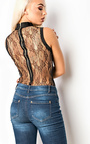 Skylyn Lace Bandage Bodysuit Thumbnail