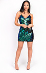 Lexia Strappy Sequin Bodycon Dress Thumbnail