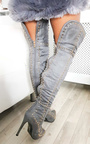 Shia Studded Thigh High Boots  Thumbnail