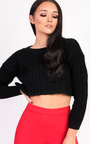 Abbie Cropped Cable Knit Jumper  Thumbnail
