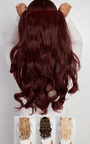 Intense Volume Clip In Hair Extensions - Curly Burgundy Thumbnail