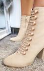 Elle Faux Suede Corset Ankle Boots Thumbnail