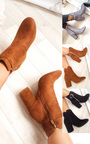 Misa Buckle Faux Suede Ankle Boots Thumbnail
