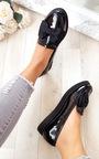 Lucinda Bow Patent Flat Pump Shoe Thumbnail
