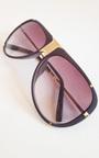 Lorita Gold Bar Brown Sunglasses Thumbnail