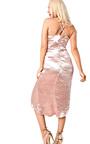 Caris Asymmetric Satin Dress Thumbnail