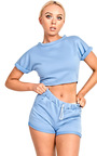 Cacelia Crop Co-ord Loungewear Set Thumbnail