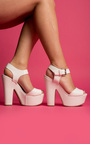 Lyra Peep Toe Platform Heels Thumbnail