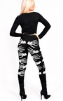 Skeleton Hands Fancy Dress Leggings Thumbnail