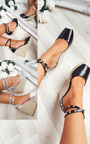 Hetti Studded Ankle Strap Espadrille Wedges Thumbnail