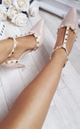 Valeria Patent T-Bar Studded Court Heels Thumbnail