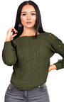 Evie Knitted Lace Up Jumper Thumbnail