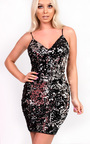 Sienna Reversible Sequin Bodycon Dress Thumbnail