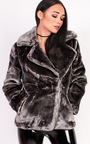 Rayana Oversized Faux Fur Jacket Thumbnail