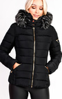Harriet Padded Faux Fur Hooded Jacket Thumbnail