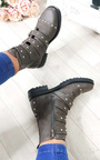 Brogan Studded Buckle Ankle Boots  Thumbnail