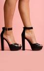 Qura Croc Print Platform Sandal Thumbnail