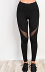 Active Mesh Detail Gym Leggings Thumbnail