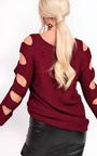 Enya Knitted Cut Out Jumper Thumbnail
