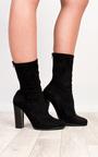 Saint Faux Suede Heeled Boots Thumbnail
