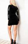 Chelsi Velour Bodycon Dress Thumbnail