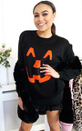Pumpkin Knitted Halloween Jumper Thumbnail