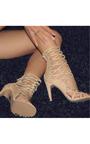 Justina Peep Toe Cage Heels Thumbnail