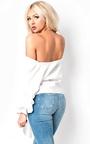 Reese Ruffle Sleeve Wrap Tie Front Shirt Thumbnail