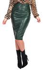 Raila Faux Leather Midi Pencil Skirt  Thumbnail