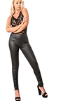 Jiroux Lace Up PU Leggings Thumbnail