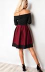 Caitlin Off Shoulder Skater Dress Thumbnail