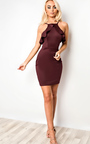 Kailyn Frill Bodycon Dress Thumbnail