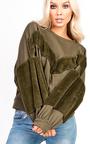 Anya Faux Fur Oversized Jumper Thumbnail