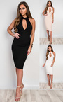 Casey Choker Neck Bodycon Dress Thumbnail