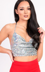 Karmen Sequin Tie Top Thumbnail