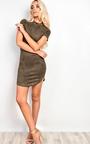 Madisyn Suede Bodycon Dress Thumbnail