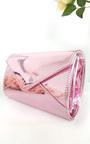Amel Metallic Envelope Clutch Bag Thumbnail