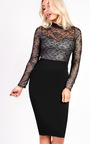 Pixie Midi Long Sleeve Lace Dress Thumbnail