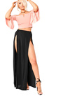 Shelly Bardot Frilled Sleeve Crop Top Thumbnail
